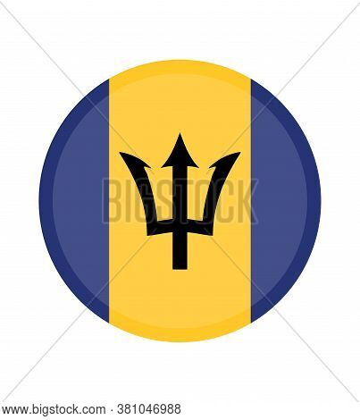 National Barbados Flag, Official Colors And Proportion Correctly. National Barbados Flag.