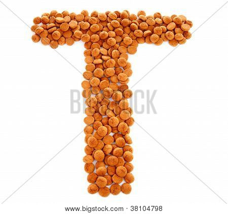 Ginger Nuts, Pepernoten, In The Shape Of Letter T