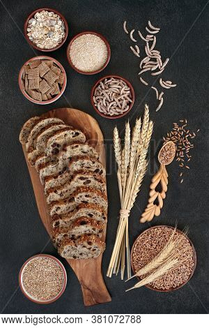 High fibre health food with wholegrain raisin rye bread, cereals & spelt grain. High in antioxidants, omega 3 & vitamins with low gi levels. Lowers high blood pressure & promotes a healthy heart.