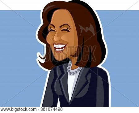 N.y., U.s. August 16, 2020, Kamala Harris Vector Caricature