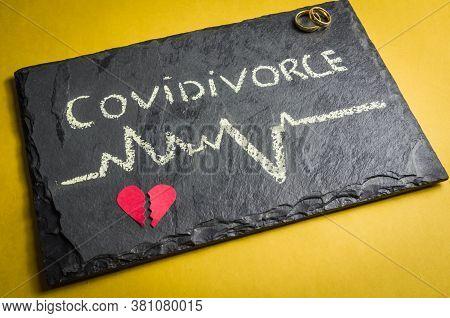 Great Concept Of Divorce In Quarantine Due To The 2019 Coronavirus Pandemic.