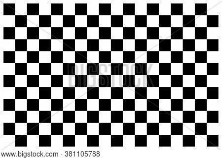 Checkerboard. Black And White Background For Checker And Chess. Square Pattern With Grid. Checkered