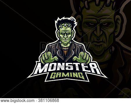 Death People Sport Logo Design. Monster Mascot Vector Illustration Logo. Scary Undead Mascot Design,