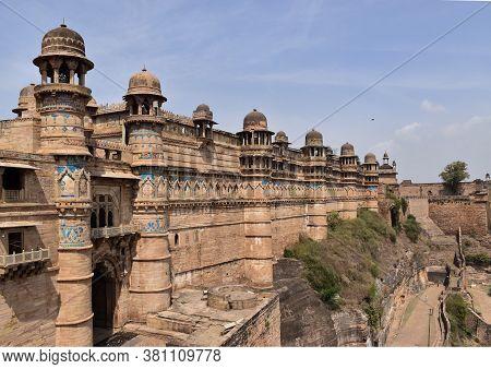 Gwalior, Madhya Pradesh/india : March 15, 2020 - Man Singh Palace Of 'gwalior Fort'