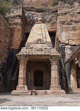 Gwalior, Madhya Pradesh/india : March 15, 2020 - Chaturbhuj Temple In Gujari Mahal, Gwalior Fort