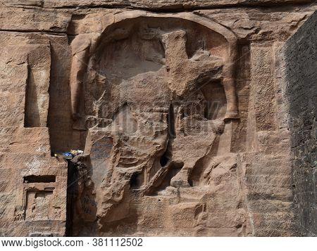 Gwalior, Madhya Pradesh/india : March 15, 2020 - Ruined Statues Of Hindu God And Goddess Outside The
