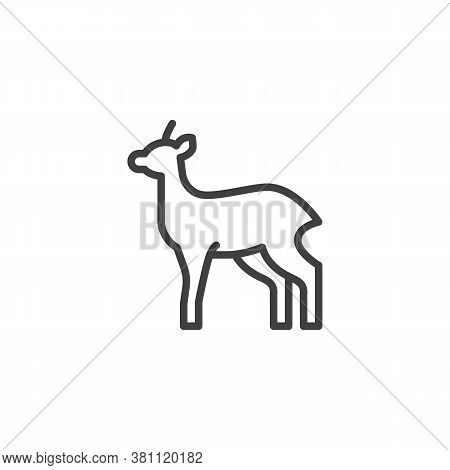 Antelope, Animal Line Icon. Linear Style Sign For Mobile Concept And Web Design. Gazelle, Impala Out