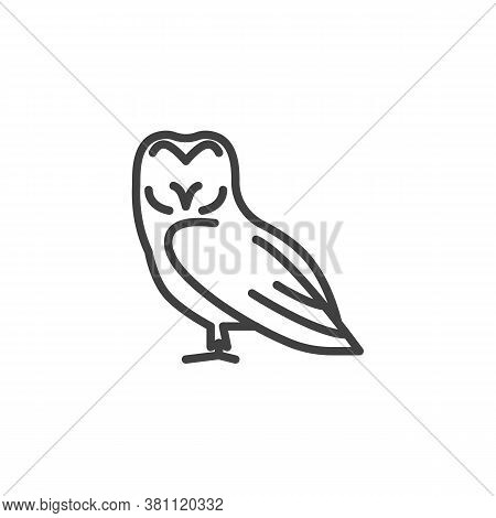 Owl Bird Line Icon. Linear Style Sign For Mobile Concept And Web Design. Eagle-owl Outline Vector Ic