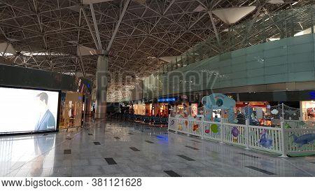 Russia, Moscow 03,06,2018 Vnukovo Airport Interior Indoor Photo