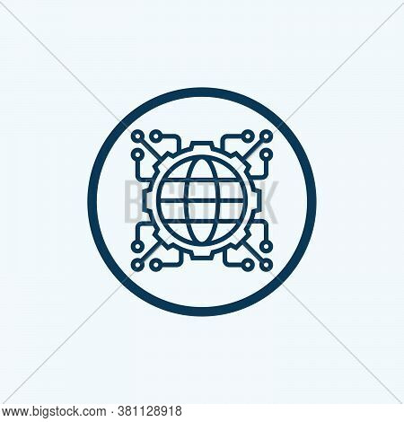 Connected Icon Isolated On White Background From Web Apps Seo Collection. Connected Icon Trendy And