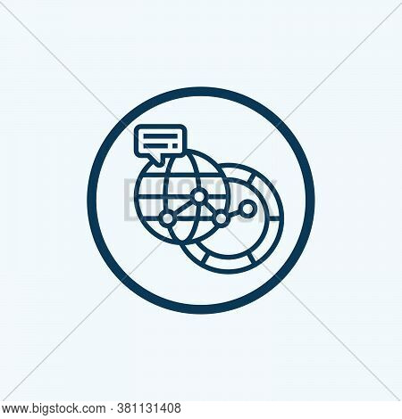 Connection Icon Isolated On White Background From World Love Collection. Connection Icon Trendy And