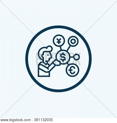 Money Management Icon Isolated On White Background From Marketing Collection. Money Management Icon
