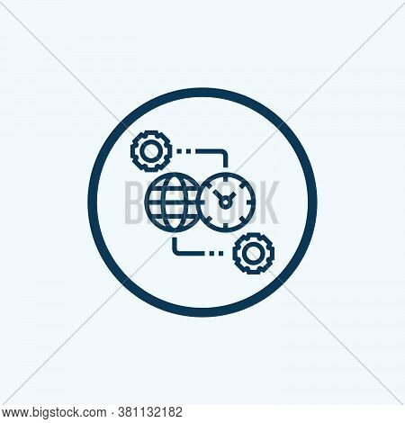 Time Zone Vector Icon On White Background. Flat Vector Time Zone Icon Symbol Sign From Modern Travel