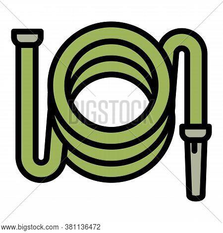 Garden Hose Icon. Outline Garden Hose Vector Icon For Web Design Isolated On White Background