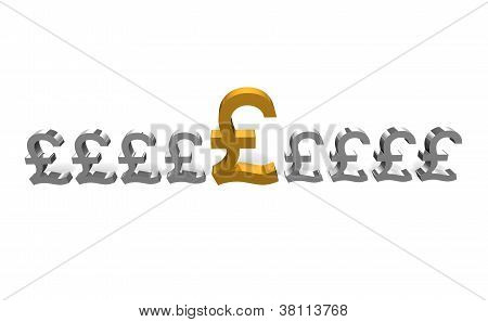 selected gold pound coin