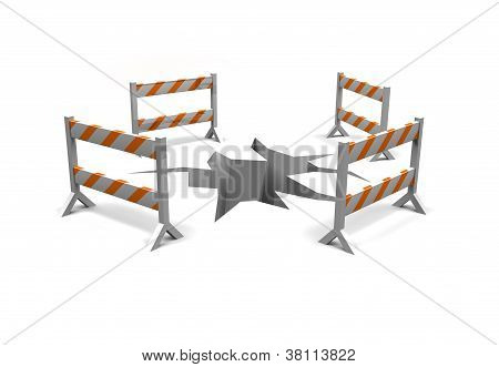 construction warning barriers
