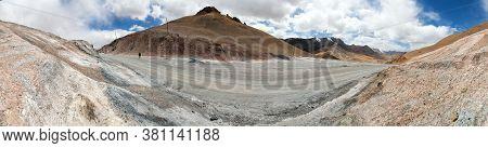 Ak-baital Or Akbaital Pass 4655m, Pamir Highway Or Pamirskij Trakt Unpaved Road, Landscape Around M4