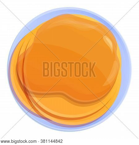 Homemade Pancake Icon. Cartoon Of Homemade Pancake Vector Icon For Web Design Isolated On White Back
