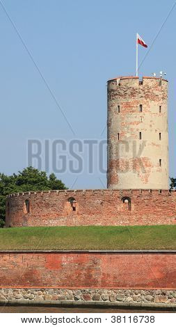 Famous Wisloujscie Fortress In Gdansk, Poland