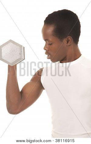 Close Up Arm Man Weight