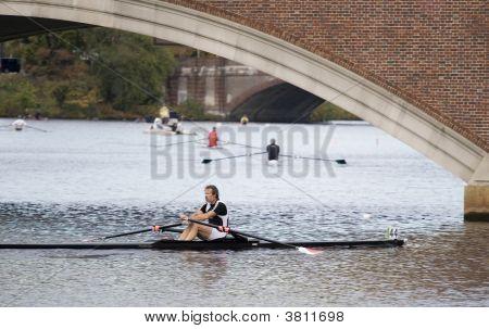 Boston, Ma 10 18 2008 Grand-Master  Singles 50+ In Charles Regatta - Racer David Jillings