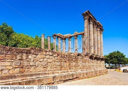 The Roman Temple Of Evora Or Templo Romano De Evora Or Templo De Diana Is An Ancient Temple Evora Ci