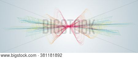 Soundwave Smooth Curved Lines Abstract Design Element Technological Dark Background With A Waveform