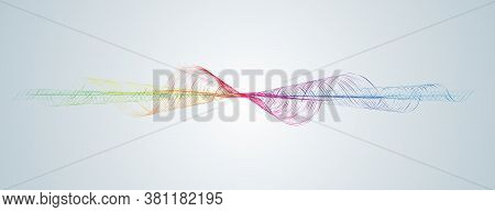 Waveform Soundwave Smooth Curved Lines Abstract Design Element Technology Background With Waveform L