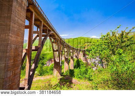 Djurdjevic Tara Bridge Over The Tara River Near Zabljak In Durmitor National Park In Montenegro