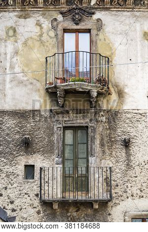 Pictorial Old Building Of Italian Villages, Abruzzo, Italy