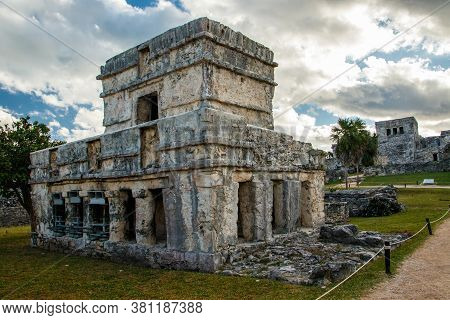 Little Fortress In Tulum Ruins At Riviera Maya Cost, Mexico
