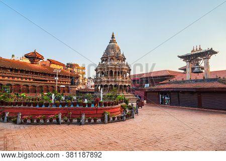 Chyasin Dega Krishna Temple At Patan Durbar Square In Lalitpur Or Patan City Near In Kathmandu In Ne