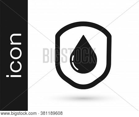 Grey Waterproof Icon Isolated On White Background. Water Resistant Or Liquid Protection Concept. Vec