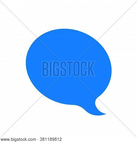 Simple Blue Popup Isolated On White. Concept Of Single Communication Popup Button Shape For Online T