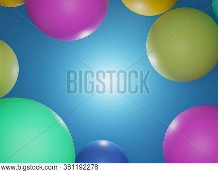 3d Circle Abstract Background And Texture Illustration