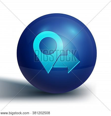Blue Map Pin Icon Isolated On White Background. Navigation, Pointer, Location, Map, Gps, Direction,