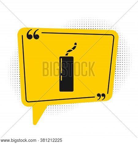 Black Detonate Dynamite Bomb Stick And Timer Clock Icon Isolated On White Background. Time Bomb - Ex