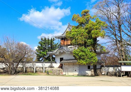 The only preserved unique ancient watch tower in Okayama castle (Ravens Castle, Black castle), Okayama city, Japan