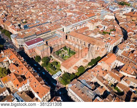 Musee Des Augustins De Toulouse Or Musee Des Beaux-arts Aerial Panoramic View, A Fine Arts Museum In