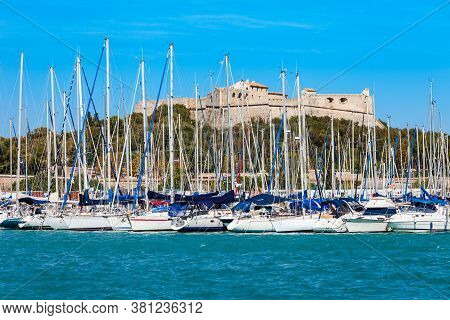 Fort Carre Is A 16th-century Fort In Antibes City, French Riviera Or Cote Dazur In France