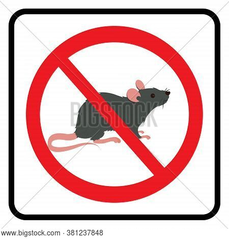 Rat Poison Icon On White Background Drawing By Illustration. Danger Rat Poison Symbol
