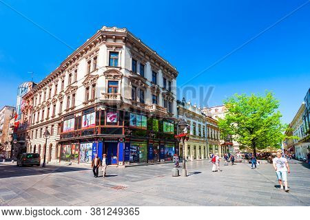 Belgrade, Serbia - May 15, 2013: Knez Mihailova Street Or Kneza Mihaila Or Prince Michael Street Is