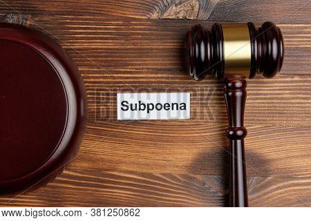 The Concept Of Subpoena In Court Cases