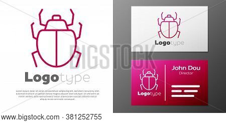 Logotype Line Mite Icon Isolated On White Background. Logo Design Template Element. Vector
