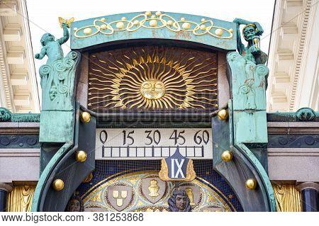 Close Up Of Ankeruhr Clock On The Hoher Markt (market) In Inner City, Vienna, Austria