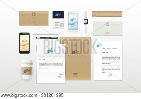 Corporate Identity Template. Branding Mockups. Packages Mock-up Pack For Your Company.