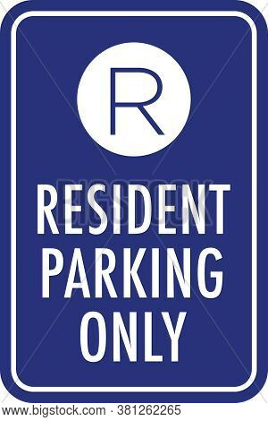 Resident Parking Only Sign | Vector Signage For Apartments, Condos & Assisted Living Facilities