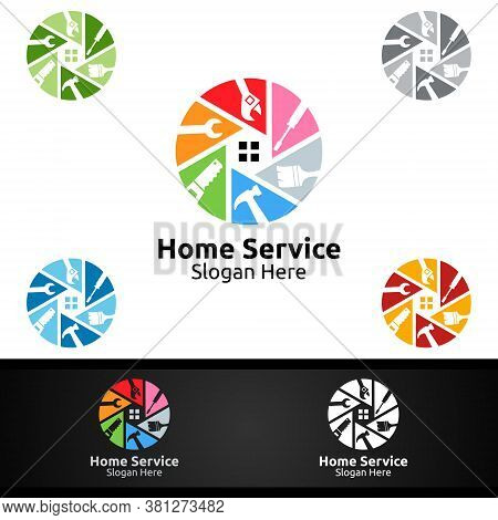 Real Estate And Fix Home Repair Services Logo