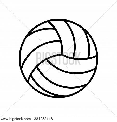 Illustration Volley Ball Icon Vector Style Trendy