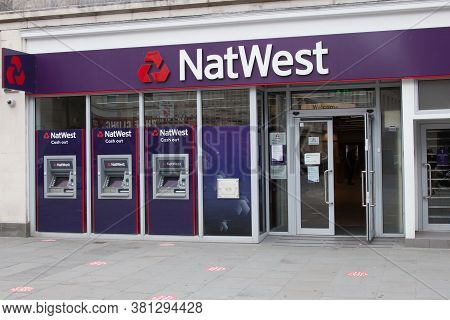 The Natwest Bank In Southampton, Hampshire In The Uk, Taken On The 10th July 2020